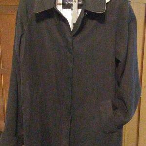 London Fog Classic Black Rain Jacket